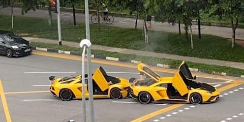 Two Lamborghini V12s crash in million-dollar fender bender