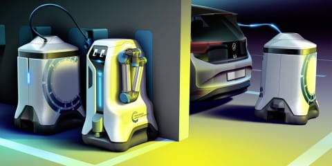 Volkswagen preparing mobile EV-charging robots