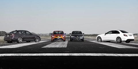 Drag Race: Australia vs The World: HSV GTSR W1 v BMW M3 Competition v Mercedes-AMG C63 S v Alfa Romeo Giulia QV
