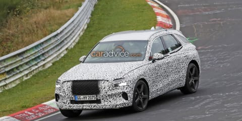 2021 Genesis GV70 spied in new camouflage