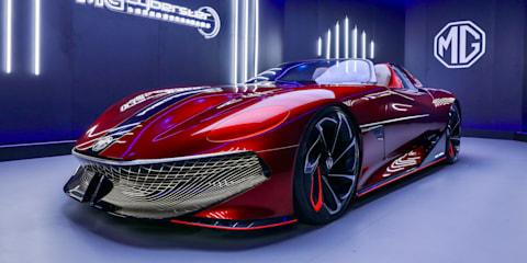 MG赛博斯特:电动跑车概念确认生产,澳大利亚交付的名片上