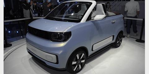 Wuling Hongguang Mini EV Cabrio convertible concept revealed in Shanghai