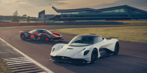 Aston Martin Valhalla and Valkyrie hit the track - video