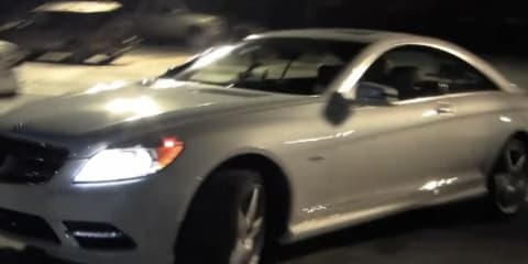 Video: Mercedes-Benz CL550 controlled by Twitter
