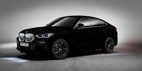 BMW X6 in 'world's blackest black' coming to Frankfurt