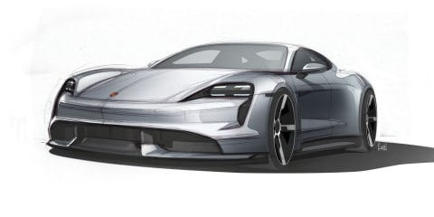 2020 Porsche Taycan sketch sent to buyers