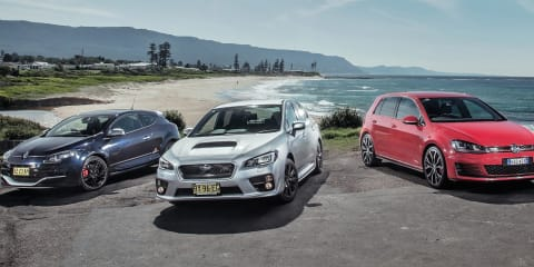 Subaru WRX v Volkswagen Golf GTI Performance v Renault Megane RS: Track test