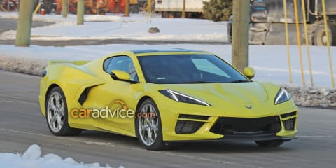 2022 Chevrolet Corvette spotted testing in right-hand-drive
