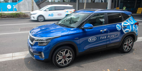 Kia has partnered with Uber to offer free trips to the Australian Open