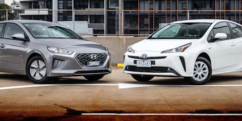 2020 Hyundai Ioniq v Toyota Prius comparison