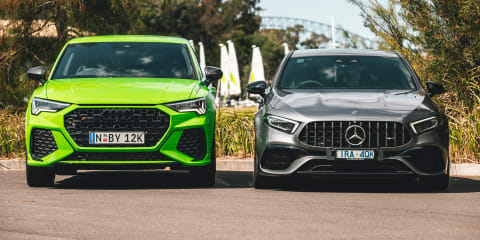 Hot 'hatch' review: 2020 Audi RS Q3 Sportback v Mercedes-AMG A45 S comparison