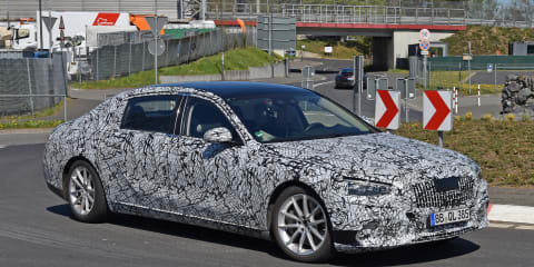 2021 Mercedes-Maybach S-Class limousine spy photos