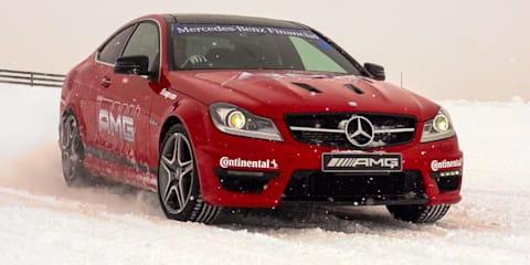 AMG snow-drifting challenge