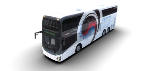 Hyundai reveals electric double-decker bus