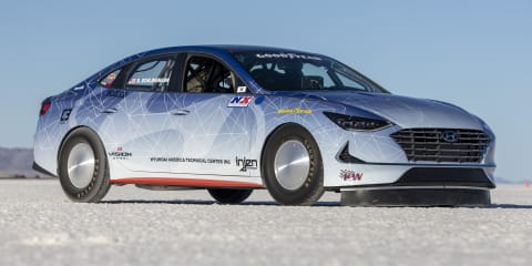 Hyundai Sonata and Nexo land speed record vehicles unveiled
