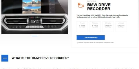 BMW Australia launches downloadable dashcam, auto high-beam