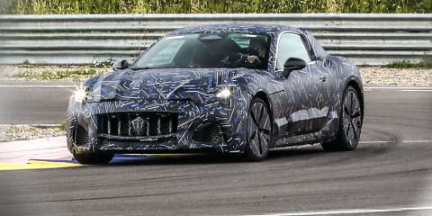 2022 Maserati GranTurismo teased with electric power, reveal due by end of 2021
