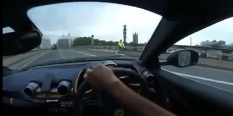 Ferrari 812 Superfast written off on London bridge