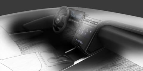 2021 Hyundai Tucson interior previewed in new sketch