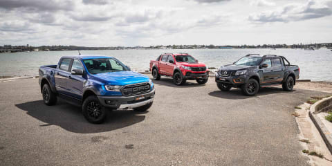 Road test comparison: 2020 Ford Ranger Raptor v HSV Colorado SportsCat v Nissan Navara N-Trek Warrior
