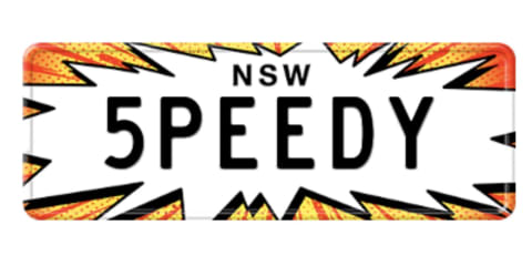 Clamp down on personalised plates that promote speed
