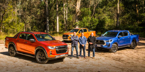 Video: 2021 Isuzu D-Max X-Terrain v Toyota HiLux SR5 v Ford Ranger Wildtrak comparison