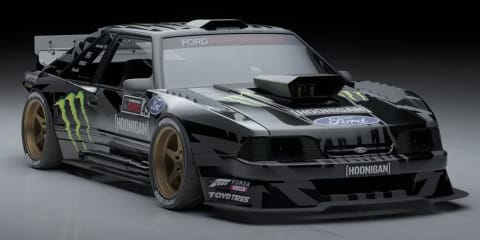 Ken Block unveils next Gymkhana Mustang in black and white