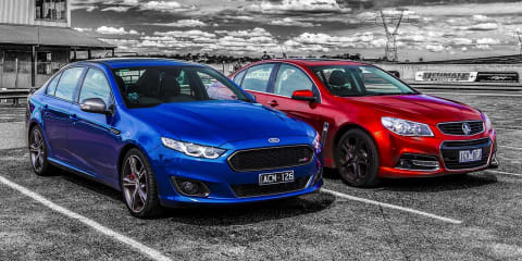 Ford Falcon XR8 v Holden Commdore SS V Redline Track Review
