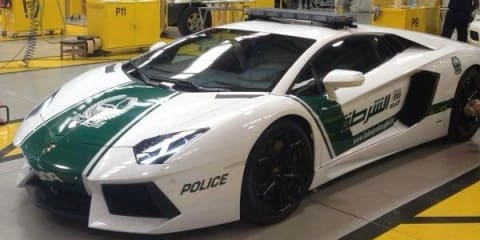 Lamborghini Aventador LP 700-4 reports for duty in Dubai