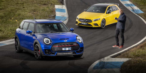 Revisit: Mini Clubman JCW v Mercedes-AMG A35 (video)