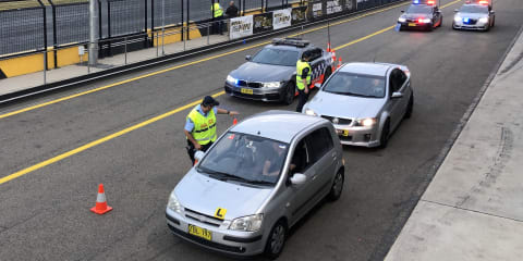 Learning to stop at a police Random Breath Test site