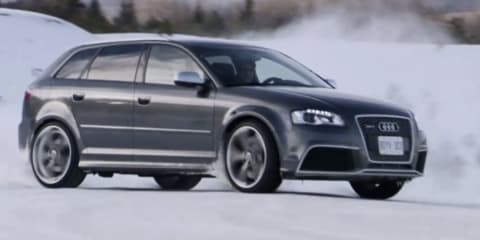 Video: 2011 Audi RS3 snow driving footage