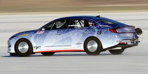Hyundai Sonata and Nexo land speed record vehicles unveiled