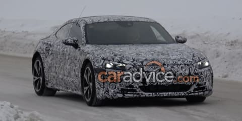 Audi E-Tron GT electric car caught on camera winter testing