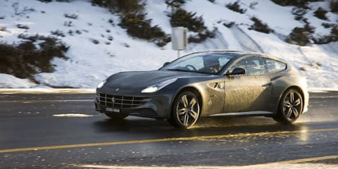 Ferrari FF: AWD supercar versus Aussie snow Video Review