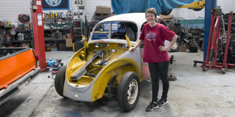 Briannen's Beetle: Meet the 16-year-old restoring her first car