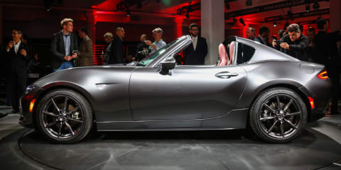 2016 Mazda MX-5 RF hardtop walk around at New York Auto Show