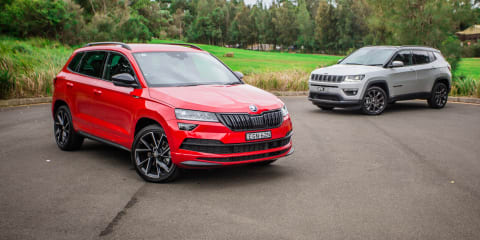 Family SUV review: 2020 Skoda Karoq v Jeep Compass comparison