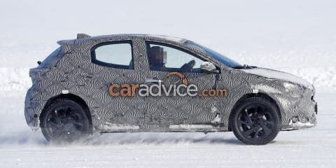Toyota Yaris compact SUV spied