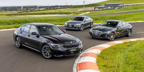 Video: Audi A5 v BMW 3 Series v Genesis G70 - Drive Car of the Year 2021 Best Medium Luxury Car