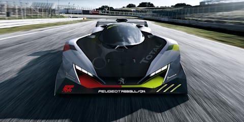 Peugeot Le Mans racer teased