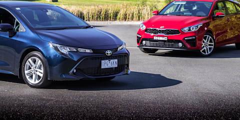 2019 Kia Cerato Sport v Toyota Corolla SX comparison