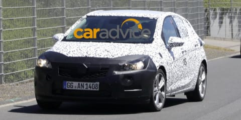 Next Holden Astra spied at the Nurburgring