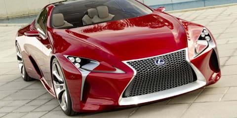 Lexus LF-LC hybrid sports coupe concept at Detroit