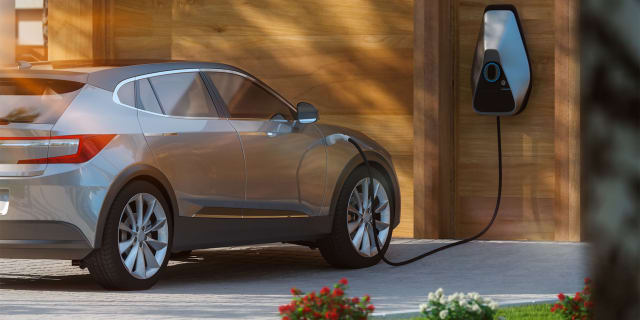 How do you charge an electric car at home?