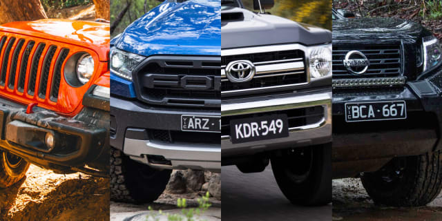 Off-road spec comparison: Jeep Gladiator Rubicon v Ford Ranger Raptor v Toyota LandCruiser 79 v Nissan Navara N-Trek Warrior
