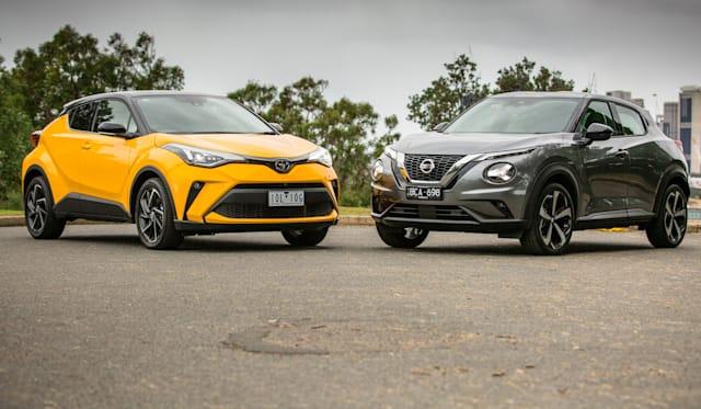 Small SUV review: 2020 Nissan Juke v Toyota C-HR comparison