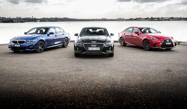 2019 Genesis G70 3.3T Sport v BMW 330i M Sport v Lexus IS350 F Sport comparison