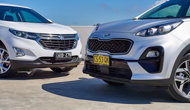 2019 Holden Equinox v Kia Sportage comparison