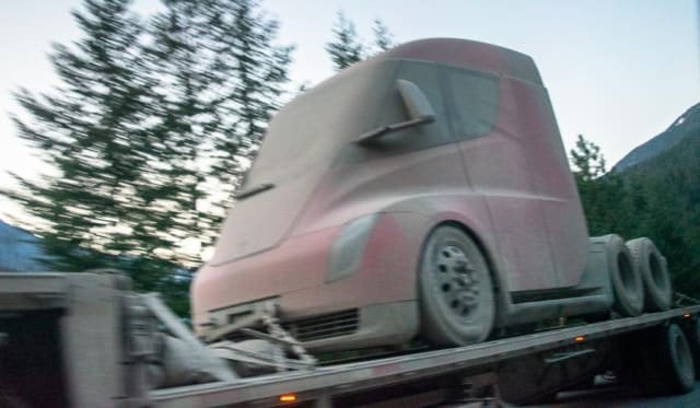 Tesla truck prototype spied following winter testing